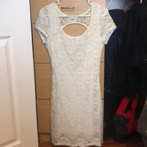 Nordstrom Lush: Lacey white dress with open back